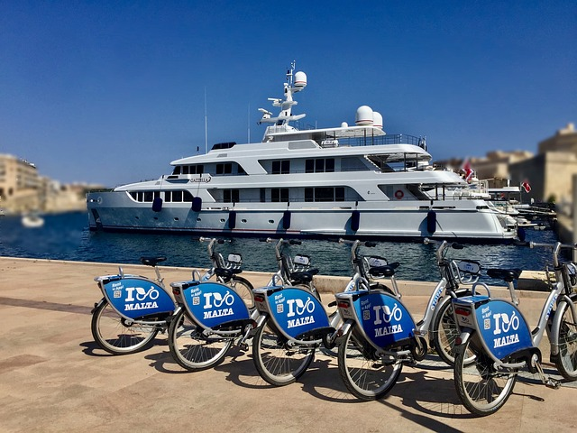 Rent a bike and travel around Malta easily.
