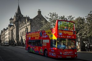 Hop on hop off buses are available for sightseeing tours.